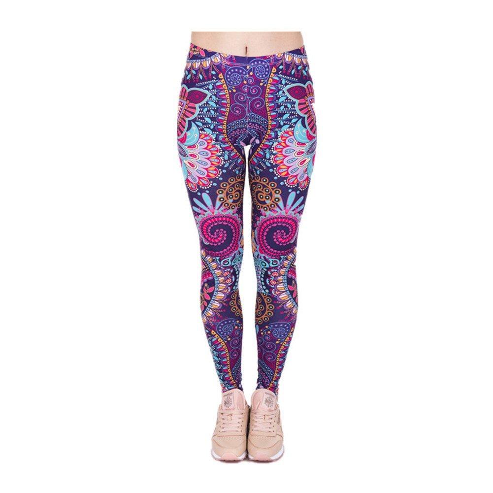 Hamrank Women/¡/¯s Printed Full-Length Yoga Workout Leggings Pants