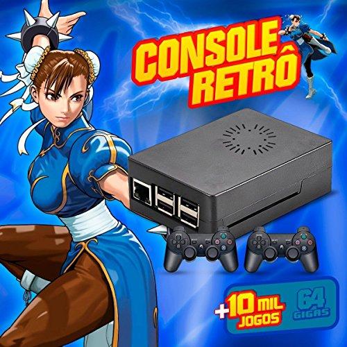 Console Retro Brevit - Recalbox - 64gb Case com cooler