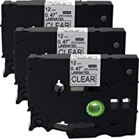 NEOUZA 3PK Compatible for Brother P-Touch Laminated TZ TZe-131 Label Tape Cartridge 12mm x 8m (Black on Clear)