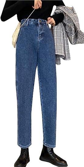 [BSCOOL]ジーンズ レディース デニムパンツ ハイウエスト ゆったり ジーパン ストレート オシャレ Gパン ファッション 着痩せ ワイドパンツ デニム ズボン