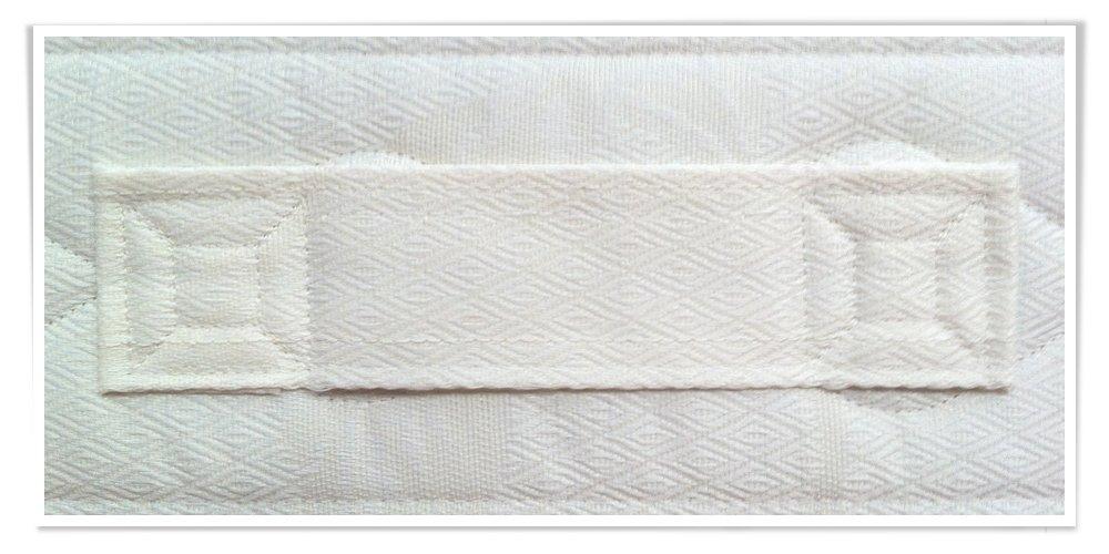 AILIME SRL Colchón Poliuretano Expandido Individual 80 x 200 Alto 18 cm de Poliuretano Espuma ortopédico + Red de Hierro con láminas de Haya ortopédicas: ...