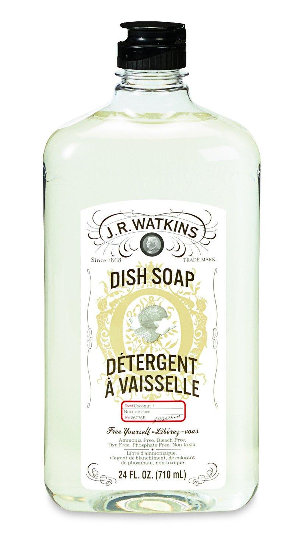 J.R. Watkins Coconut Natural Liquid Dish Soap, 6 Count