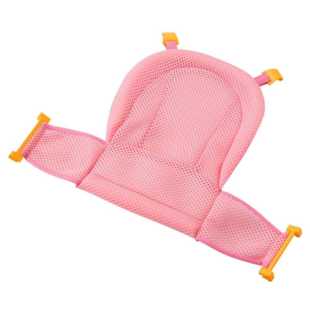 Deanyi Bagno Sedile Supporto netto vasca da bagno doccia Sling Mesh regolabile addensare Anti-Slip per il neonato nursery Culla Anelli per idromassaggio 1 Pezzo Rosa Prodotto per bambini