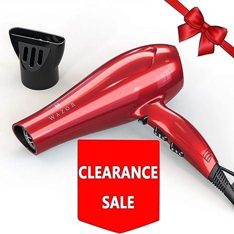 wazor rojo color secador de pelo iones negativos secador 1800W DC Motor velocidad de
