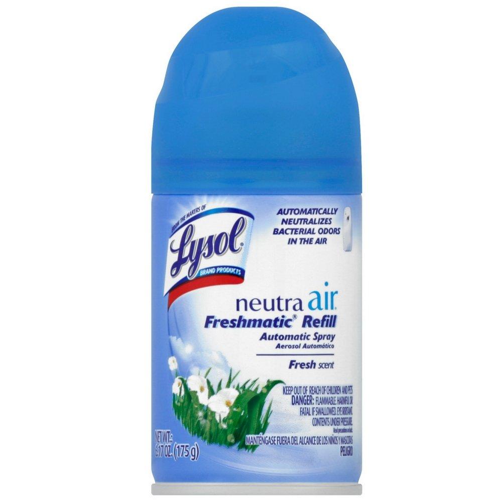 Lysol Neutra Air Freshmatic Automatic Spray Air Freshener, Fresh, 1 Refill, 6.17 oz (Pack of 12)