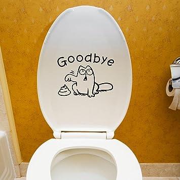 VENMO DIY Auf Wiedersehen WC Toilettensitz Badezimmer Aufkleber|  Kühlschrank Wandtattoo| | Fliesen Sticker Folie Aufkleber Für Badezimmer  Deko ...