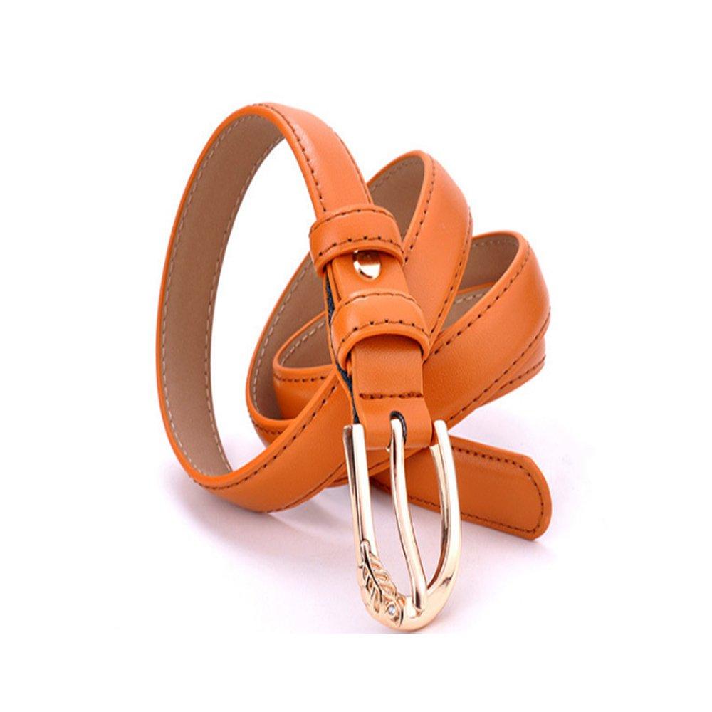 Xiaoqin Mujeres Pin Hebilla Cinturón de Cuero Salvaje Todavía Hojas Pin Hebilla Bellas Cinturón Ocio Jeans Cinturón Adecuado para Todas Las Estaciones y ...