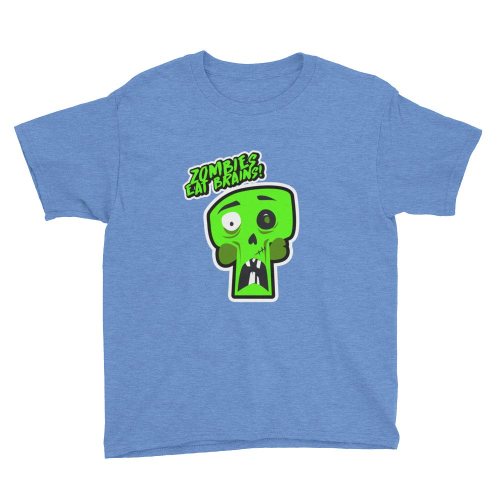 Zombies Eat Brains Anvil 990B Youth Lightweight Fashion T-Shirt