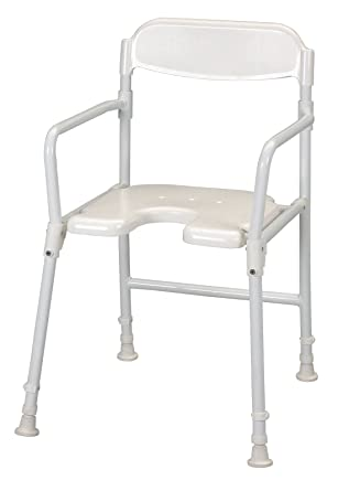 Patterson Medical - Silla plegable para ducha, color blanco: Amazon ...