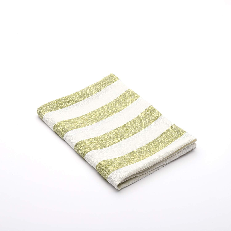 (65 x 135 cm) - LinenMe 65 x 135 cm Linen Philippe Bath Towel, Green B00EAOJXSC  標準