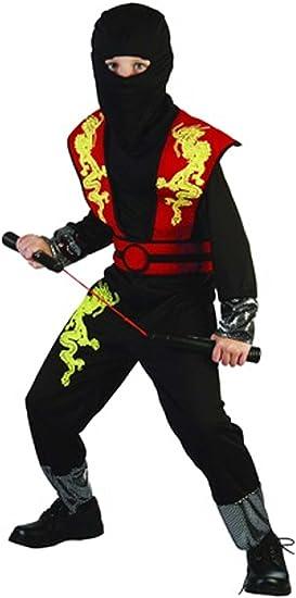 Disfraz niño Ninja Dragon rojo - talla 4 - 6 años (110-120CM ...