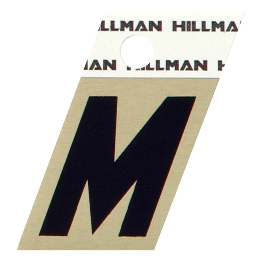 The Hillman Group 840518 1-1/2-Inch Aluminum Angle-Cut Letter M