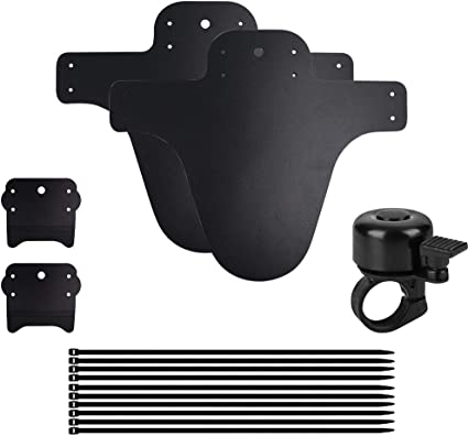 """Bell Bike Mud Guards Lightweight Front and Rear Fenders Fits 24/"""" and 26/"""" Bikes"""