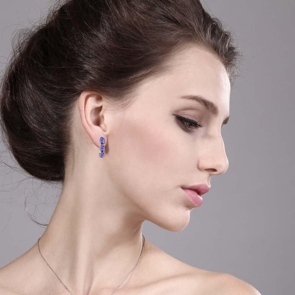 Turquoise Butterfly Earrings 925 Sterling Silver Genuine Gemstones