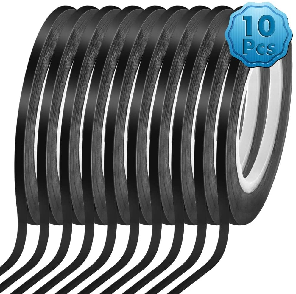 "2/"" x 108/' Black Vinyl Adhesive Pinstriping Tape Lane Marking Car Decor PinStrip"
