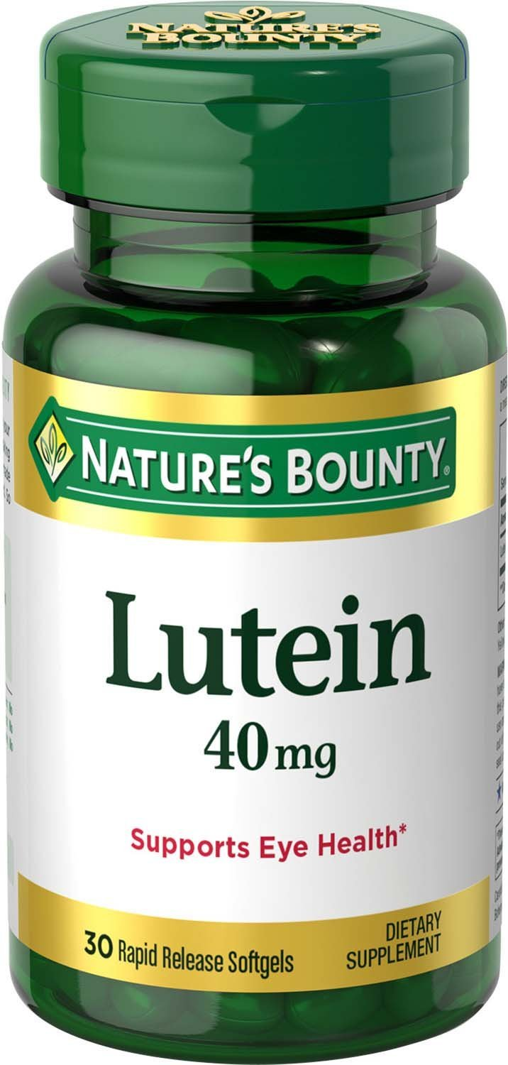Nature's Bounty Lutein Pills, Eye Health Supplements and Vitamins, Support Vision Health, 40 mg, 30 Softgels by Nature's Bounty