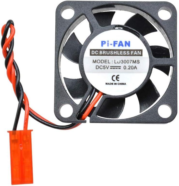 Raspberry Pi 2//3 HUAZHU Pi Fan Heatsink 5PCS DC 5V 0.2A Brushless Cooling Fan 30x30x7mm for Raspberry Pi Model B+