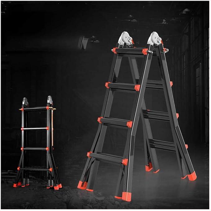 YXLONG Escalera Telescópica, Extensión Telescópica De Aluminio Escalera Alta Multifuncional para Loft,1.7+1.7m: Amazon.es: Deportes y aire libre