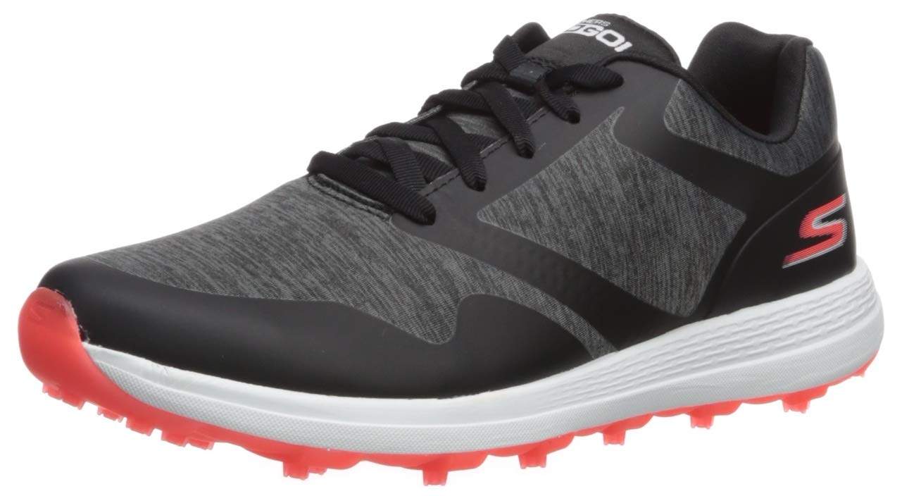 Skechers Women's Max Golf Shoe, Black/Pink Heathered, 5.5 M US