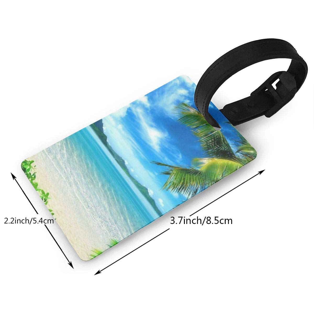 Beaches Travel Tags For Travel Bag Suitcase Accessories 2 Pack Luggage Tags