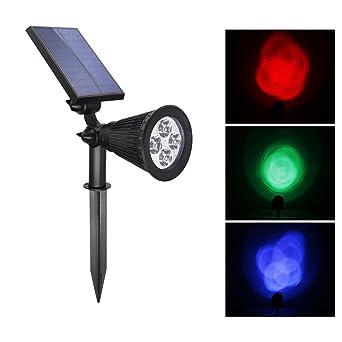 BLOOMWIN Lampe Solaire Jardin, Eclairage Exterieur LED IP65 250LM ...