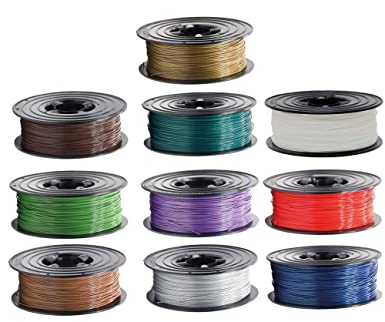 10x 1kg PLA Filament Rolle 1,75mm 10 Farben X-MAS SPECIAL f/ür 3D Drucker 3D Printer oder Stift 10er Set 10Kg