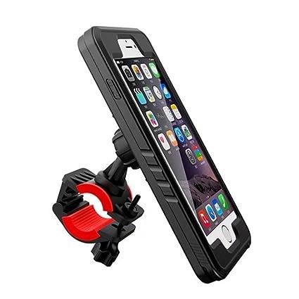 on sale 50678 74d25 Bike Mount iPhone 6/6s Plus Waterproof Case, Mangix Bike Phone Holder Phone  Bike Mount Motorcycle Phone Mount iPhone Bike Mount iPhone Bicycle Mount ...
