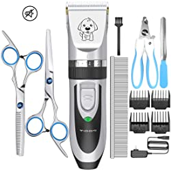 YIDON Dog Clippers Low Noise Cordless Rechargeable Professional Dog Grooming kit for Dogs Cats Pets