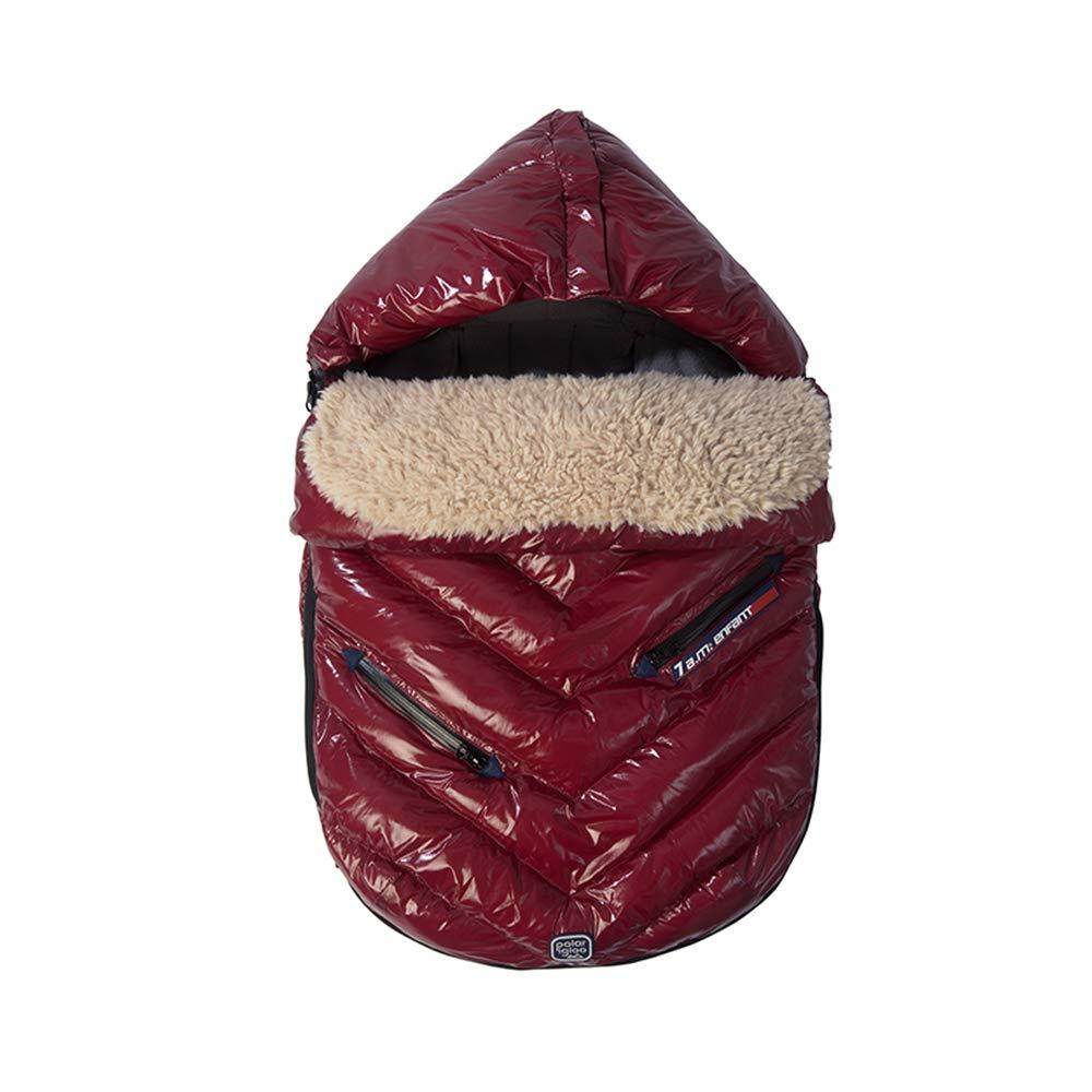 7AM Enfant Polar Igloo Extendable Baby Bunting Bag Adaptable for Strollers, Bordeaux, Medium by 7AM Enfant   B007ST1MVC