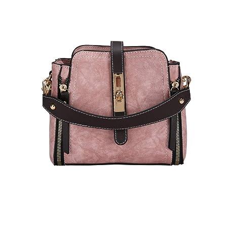 2d7a831273ad DDKK bags Retro Leather Crossbody Bag One-Shoulder Bag-College School  Travel Handbag-Zipper Pocket Messenger Tote Hot