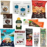 Low Carb KETO Snacks Box: Mix of Low Sugar High Fat Ketogenic Diet Snacks, Cookies, Protein Bars, Beef Sticks & Pork Rinds Keto Care Package