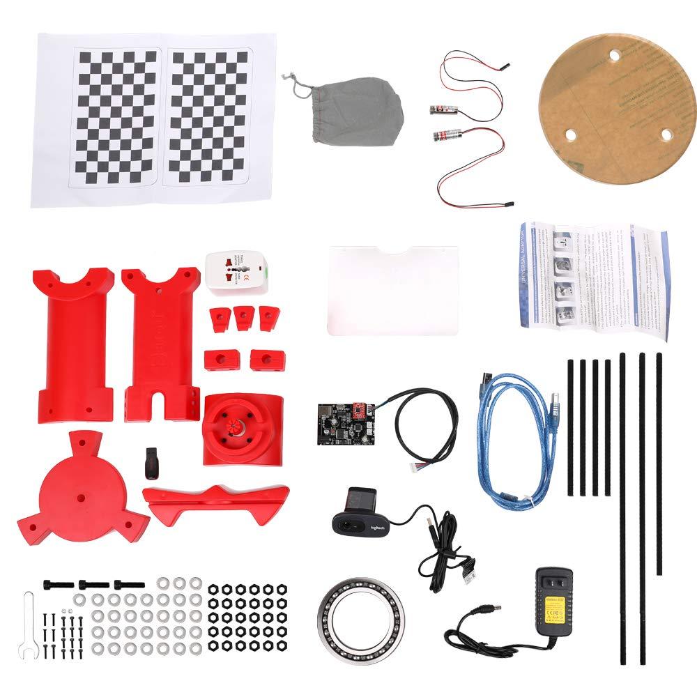 Scanner Baugger DIY 3D-Open-Source-Scanner Hochpr/äzises Desktop-Basis-Scanister-Kit mit Multifunktionsstecker
