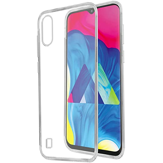 the best attitude 8b306 fafa9 Amazon Brand - Solimo Mobile Cover (Soft & Flexible Back case) for Samsung  Galaxy M10 (Transparent)