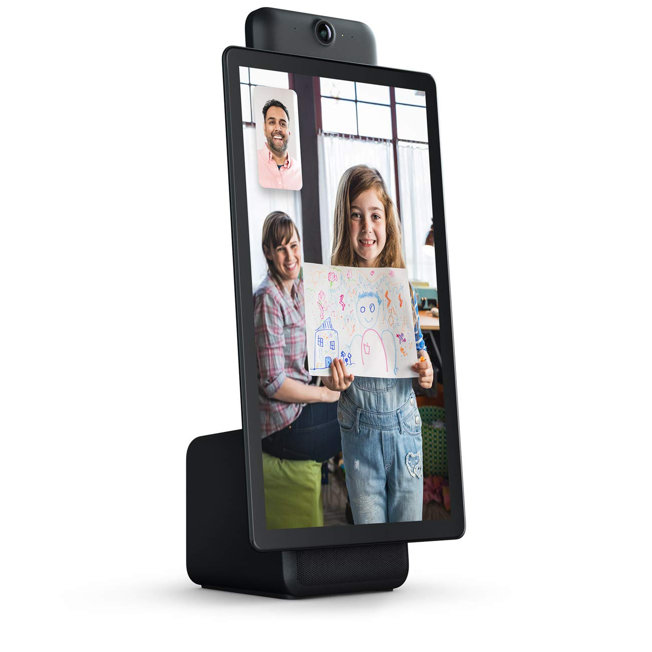 "Portal Plus from Facebook. Smart, Hands-Free Video Calling with Alexa Built-in [15.6"" display] – Black"