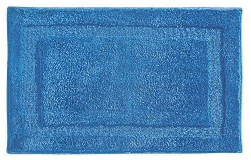 Azure Blue Ceramic (mDesign Microfiber Polyester Non-Slip Bathroom Accent Rug or Shower Mat for Bathroom, Vanity, Bathtub, or Shower – 34