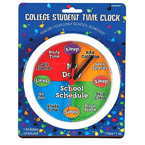 Amscan Silly College Student Time Clock for Graduation Party Gift Favor, Multicolor, 7