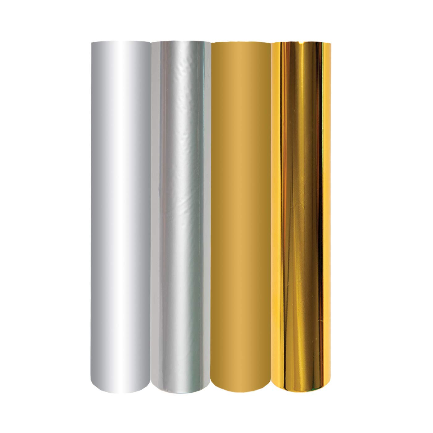 Spellbinders GLF-011 4 Metallic Gold & Silver Variety Pack Glimmer Hot Foil Roll, Multicolor by Spellbinders