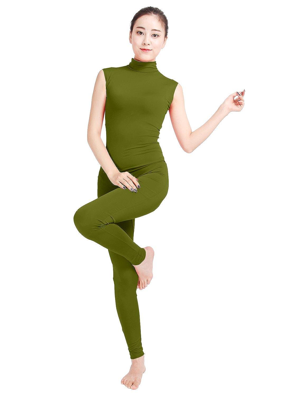 9558361e6 Amazon.com  Womens Spandex Turtleneck Sleeveless Dance Unitard ...