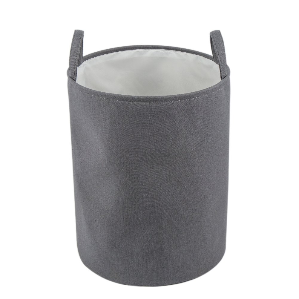 Every Deco Dark Gray Fabric Lined Storage Bucket by EVERYDECO