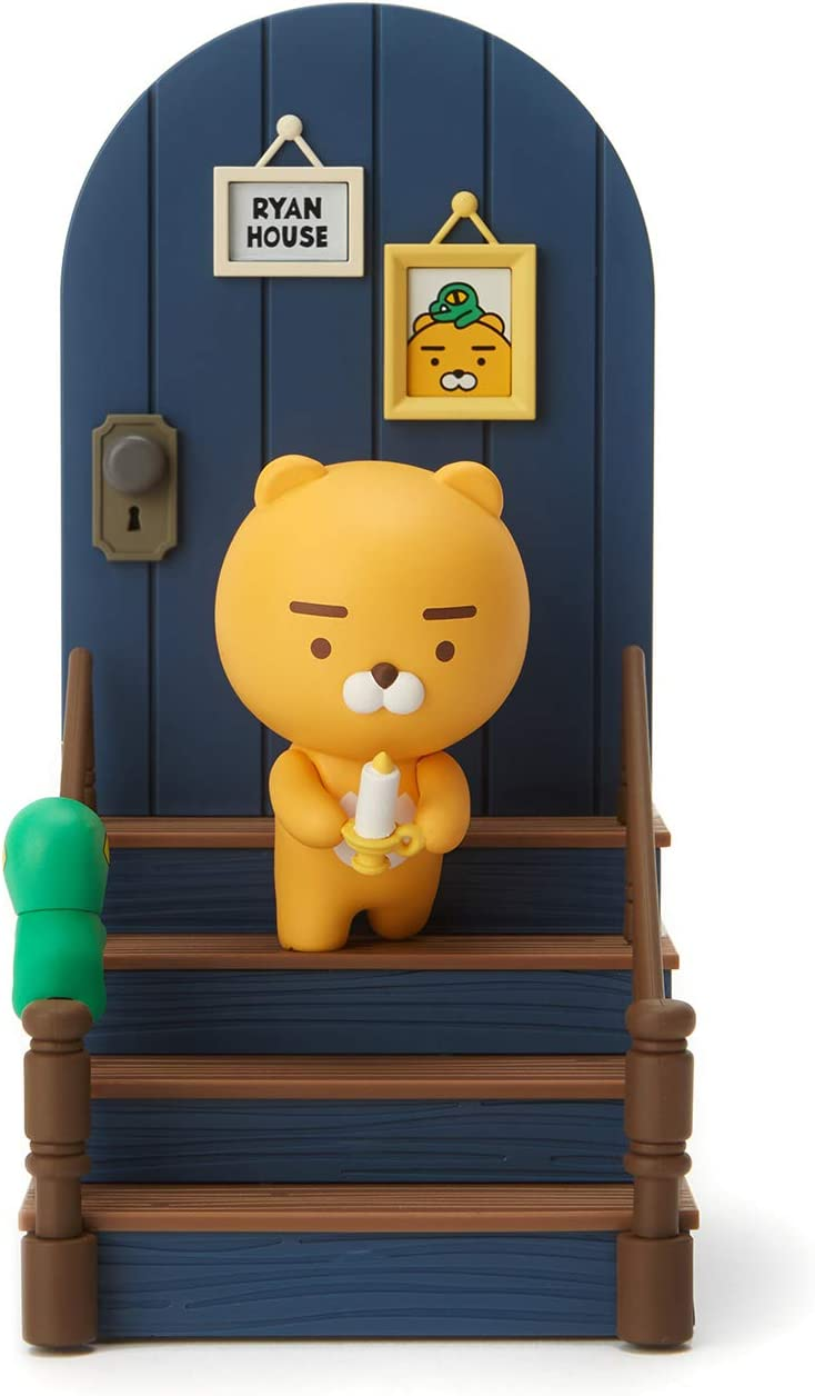 KAKAO FRIENDS Official- Ryan House Figurine Bookend Book Stand (Ryan & Con)