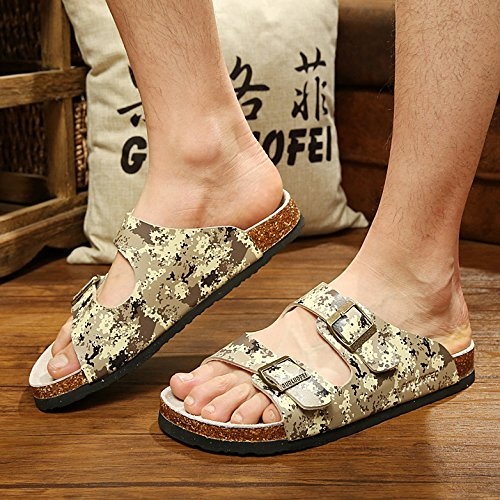 Grandi Pantofole Ciabatte Uomini Cool Tide Coppie Anti Numeri Mimetizzazione Una Estate skid Fankou 43 Di Femmina PFIgWxn5qU