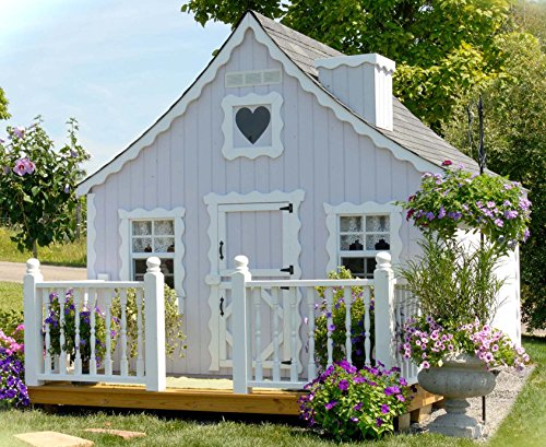 Little Cottage Company Gingerbread DIY Playhouse Kit, 8′ x 8′