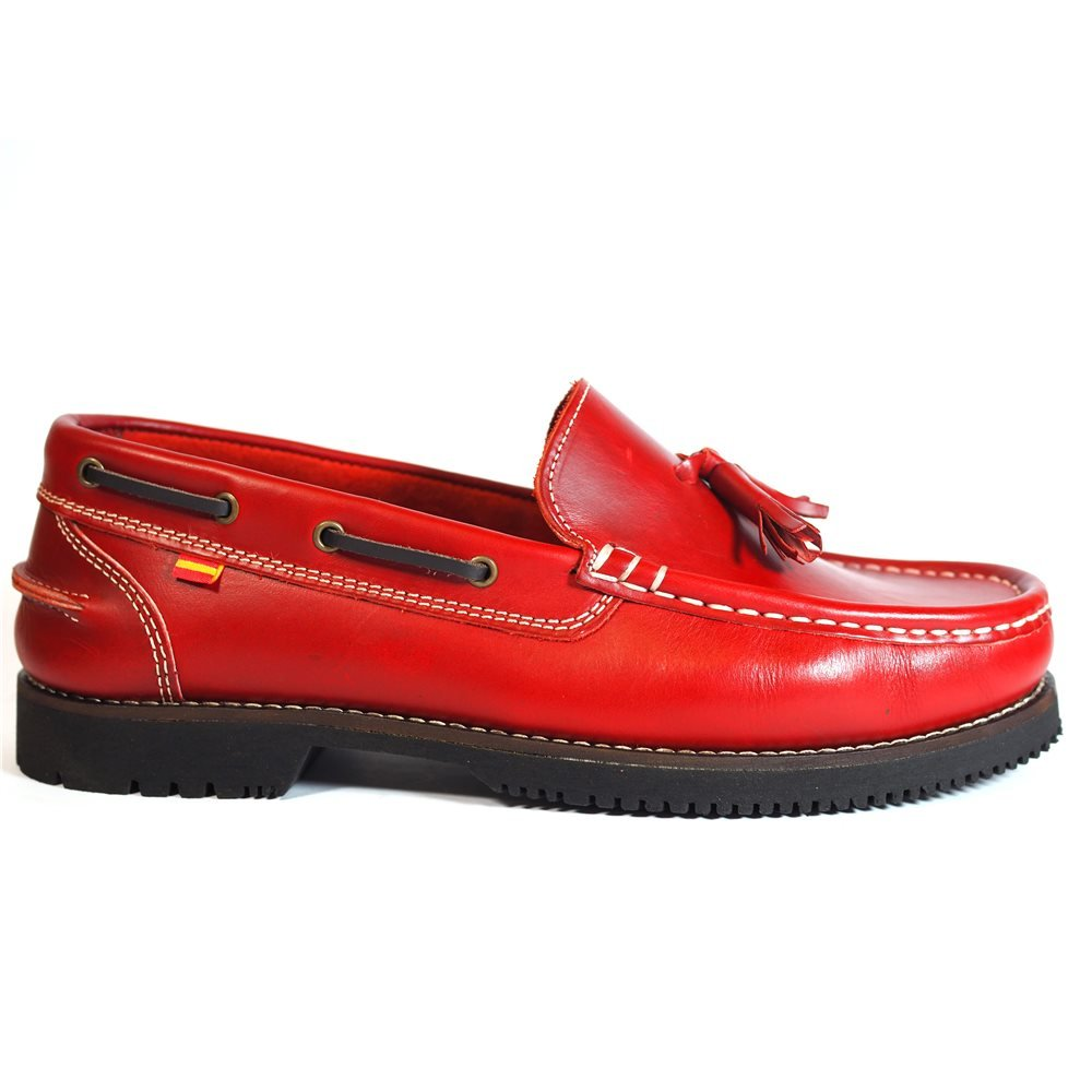Zapatos Apache LA Valenciana Montijo Rojo 45 EU|Rojo