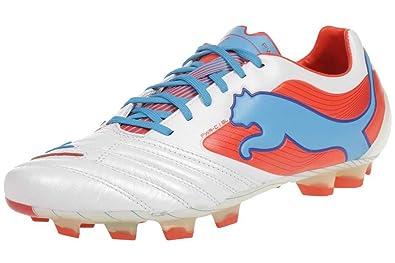 best value c58e3 5ab7f Powercat 1 SL FG - Chaussures de Foot Blanc Orange Océan - taille 12