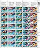 Winter Olympics Full Sheet of 35 x 29 Cents Stamps Scott 2611-15 By USPS
