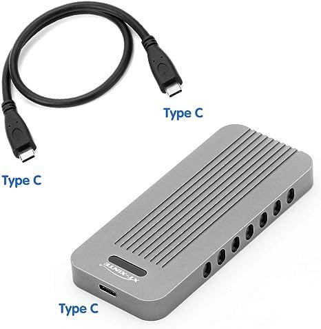XT-XINTE USB 3.1 Tipo C NVMe SSD Enclosure Adapter M Key Connector ...