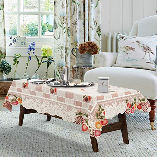 CASA Furnishing® Attractive Checkered Design 4 Seater Centre Table Cover  60x40 inches