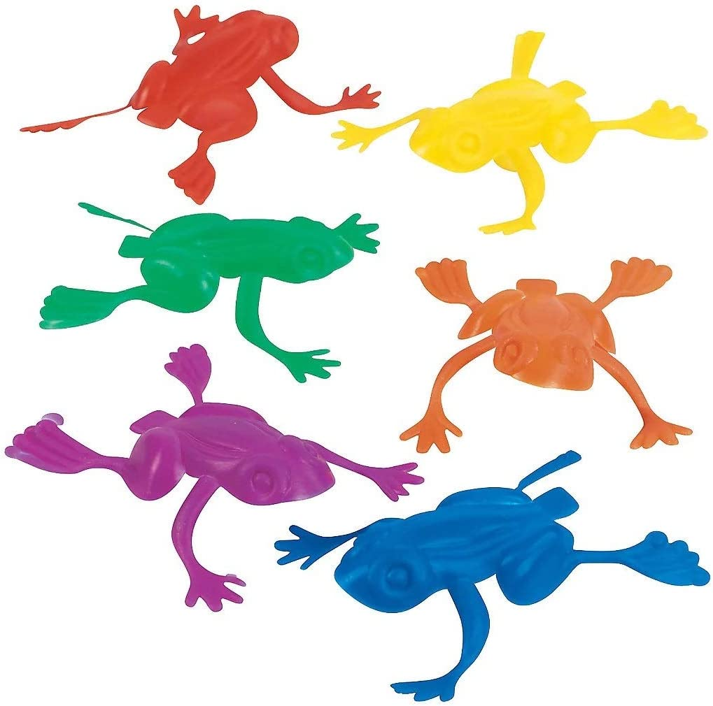 Passover Jumping Frogs Plastic Toy 24-Pack