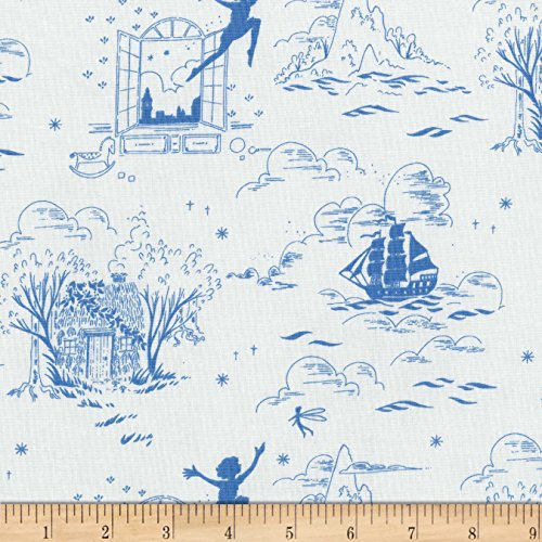 Michael Miller 0587220 Sarah Jane Peter Pan Second Star to The Right Wave Fabric by The (Peter Pan Fabric)