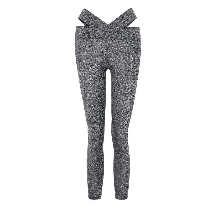 Pantalones Yoga Mujeres,Yusealia Puntadas Atractivas Leggins Fitness Pantalones Elasticidad de Moda Empalmada Cintura Mid De Flaco Correr Elasticidad ...